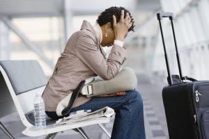 perda de compromisso profissional por atraso de voo
